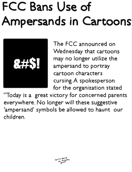 Fcc Bans Use Of Ampersands In Cartoons Dw Voice Dwvoice